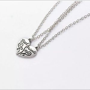 HEART SHAPED MATCHING BEST FRIEND NECKLACES NEW